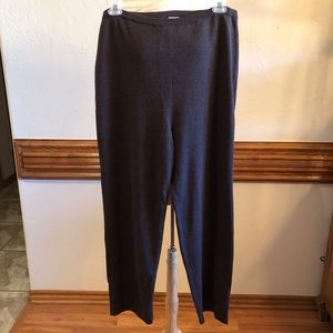 Eileen Fisher Dark Gray 100% Wool Pull on Pants 2X